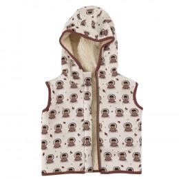 Omkeerbaar mouwloos vest van BIO katoen Teddy - Eskimo - Spice