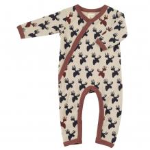 Pyjama - Biologisch katoenen pyjama met sokjes - Eland bruin