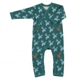 Pyjama - Biologisch katoenen pyjama met sokjes - Elan Teal
