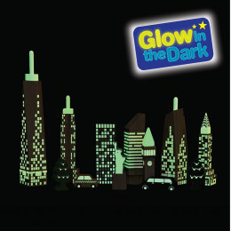 City skyline glow-in-the-dark blokken - vanaf 2 jaar