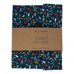 Lunchzakje - 35 x 40 cm - Eendenblauw met print