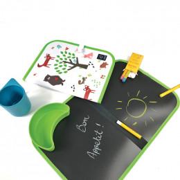 2 op 1 placemat en schoolbord - Bos - vanaf 3 jaar oud
