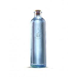 Glazen fles Grattitude 1.23 L + bio katoenen hoes