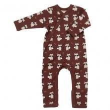Pyjama - Biologisch katoenen pyjama met sokjes - Wasbeer Spice