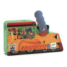 Silhouetpuzzel - De locomotief