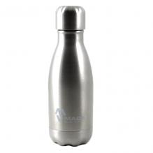 100% Roestvrijstalen drinkfles - Geborsteld RVS - 260 ml