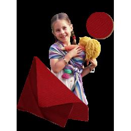 Draagdoek voor poppen - Leo rood