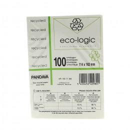 Enveloppen uit gerecycleerd papier - 114 x 162 mm - 100 stuks