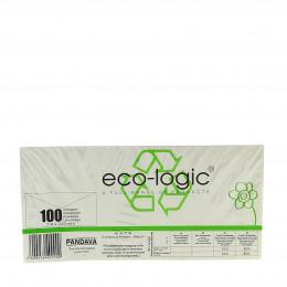 Enveloppen uit gerecycleerd papier - 114 x 229 mm - 100 stuks