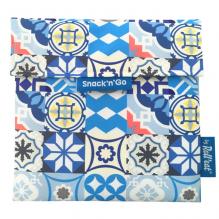 Afwasbaar en herbruikbaar snackzakje - Snack'n'Go - Patchwork Blue