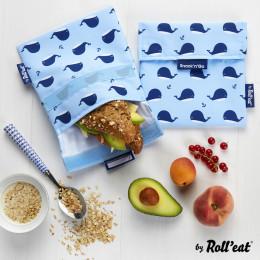 Afwasbaar en herbruikbaar snackzakje - Snack'n'Go - Kid Walvis
