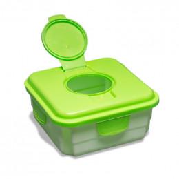 Praktische Mucky Bewaardoos voor vuile babydoekjes - Groen