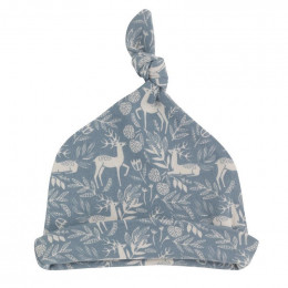 Bonnet blanc en coton BIO - Cerf bleu
