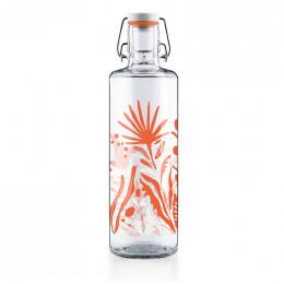 Glazen fles - Wildblumen - 1 liter