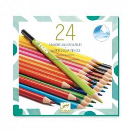 24 aquarel kleurpotloden