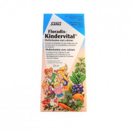 Floradix Kindervital - Multivitamine met calcium - 250 ml