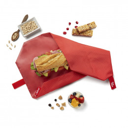 Herbruikbare foodwrap - Boc'n'Roll - Square Red