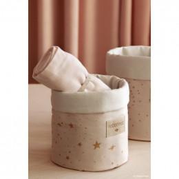 Mandje Panda - Gold stella & Dream pink - small