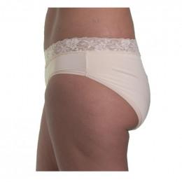 Bruine Menstruatie Slip met Kant - 4 Beschermlagen