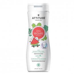 2 en 1 Shampooing et gel nettoyant - Little leaves -  coco et melon - 295 ml