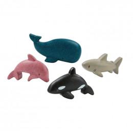 Houten set - Zeedieren