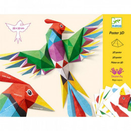 Vouwset 3D poster - Amazonie