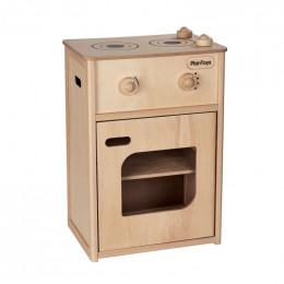 Houten fornuis met oven