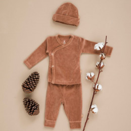 Broekje velours - Tawny brown