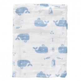 Set van 3 washandjes - whale blue fog