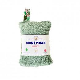 Eponge lavable verte