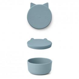 Cornelius snackdoosje - Cat sea blue