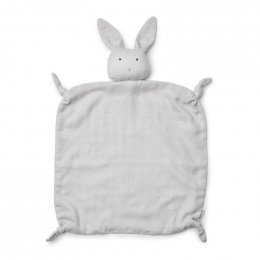 Agnete knuffeldoekje - Rabbit dumbo grey