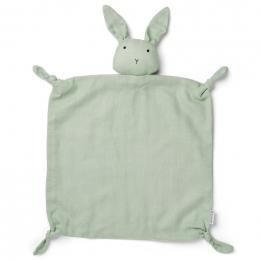 Agnete knuffeldoekje - Rabbit dusty mint