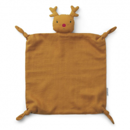 Agnete knuffeldoekje - Reindeer mustard