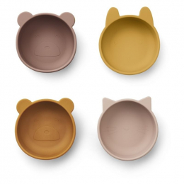 Set van 4 Siliconen bowls Iggy - Rose Mix