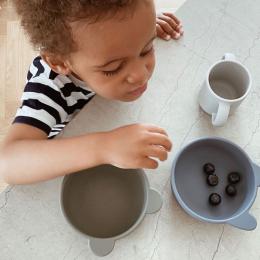 Set Van 4 Siliconen Bowls Iggy - Blue Mix