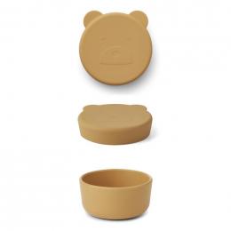 Carrie snackdoosje - Mr bear mustard