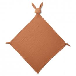 Robbie knuffeldoek - Rabbit terracotta