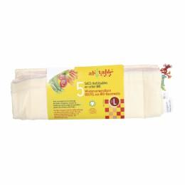 Katoenen fruit- en groentezakken - Maat L - 5 stuks