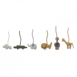 Helmut hangspeeltjes voor babygym - 6 pack - Safari mix