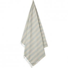 Mona strandhanddoek - Y&D stripe: Sea blue&sandy