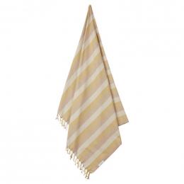 Mona strandhanddoek - Y&D stripe: Peach&sandy&yellow mellow