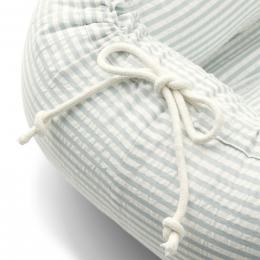 Gro baby nestje - Y&D stripe: Sea blue & white