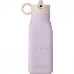 Warren fles - Cat light lavender