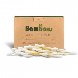 Composteerbare wattenstaafjes - Katoen & bamboe - 400 stuks
