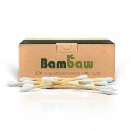 Composteerbare wattenstaafjes - Katoen & bamboe - 200 stuks