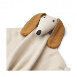 Agnete knuffeldoekje - Dog sandy