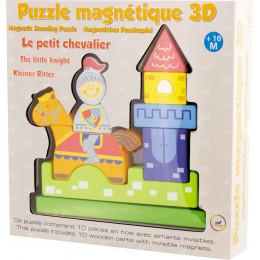 Magnetische 3D-puzzel in hout, 'De kleine ridder' Vanaf 10 maanden